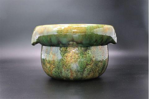 KUMOIGAMA Shigaraki Oribe Rice Pot