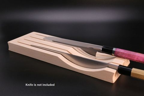 Beechwood Knife block horizontal stand